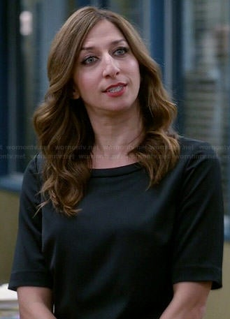 Gina's black split back crop top on Brooklyn Nine-Nine