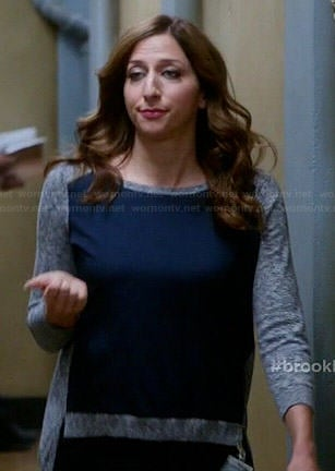 Gina's grey sweater with blue front panel on Brooklyn Nine-Nine