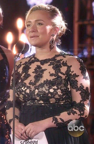 Juliette's black lace CMAs gown on Nashville