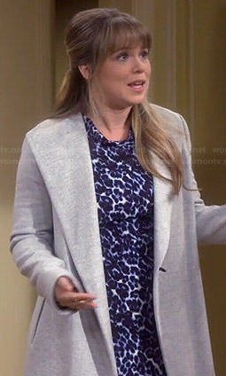 Kristin's blue leopard print dress on Last Man Standing