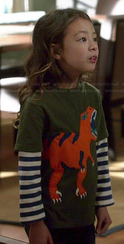 Lily's dinosaur tee on Modern Family