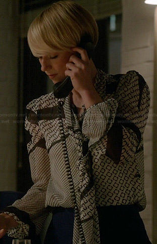 Emily's white shirt with blue stripes on Revenge