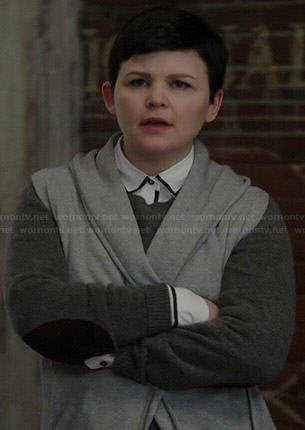 Mary's grey sweater dress with elbow patches on Once Upon a Time
