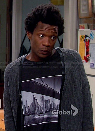 Motif's Brooklyn Bridge graphic tee on Mulaney