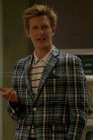 Nolan's blue plaid jacket on Revenge