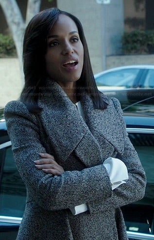 Olivia's grey coat on Scandal