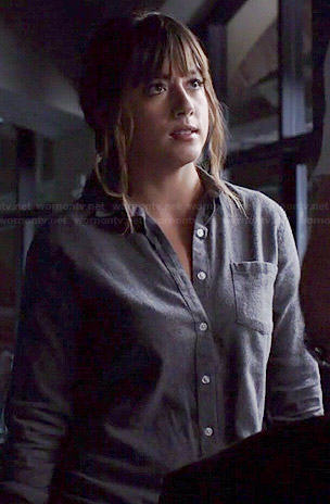 Skye's grey button down shirt on Agents of SHIELD