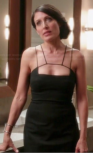 Abby's black strappy front dress on Girlfriends Guide to Divorce