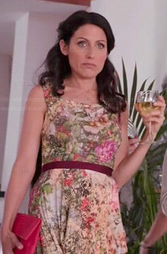 Abby's floral baby shower dress on Girlfriends Guide to Divorce