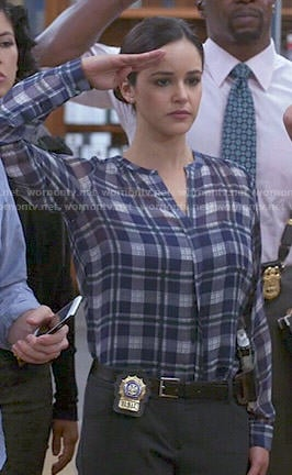 Amy's plaid blouse on Brooklyn Nine-Nine