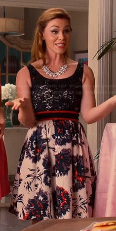 AnnaBeth's lace top and printed skirt dress on Hart of Dixie