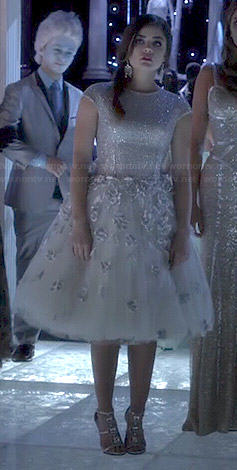 Aria's Christmas dress on Pretty Little Liars