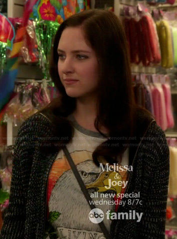 Brenna's eagle graphic tee on Chasing Life