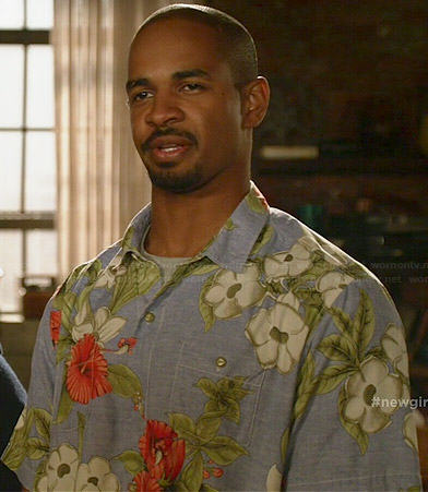 Coach's hawaiian shirt on New Girl