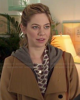 Dana's camel coat on Manhattan Love Story