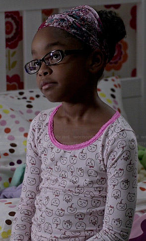 Diane's cat print pajamas on Black-ish