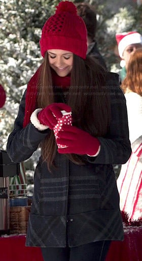 Elena's plaid coat on The Vampire Diaries