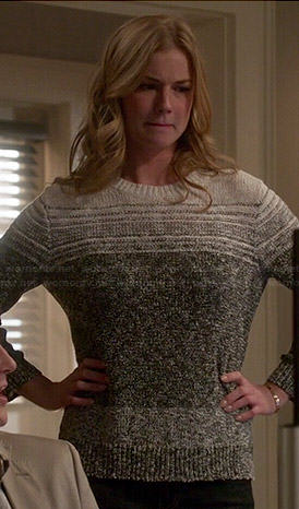 Emily's grey ombre sweater on Revenge