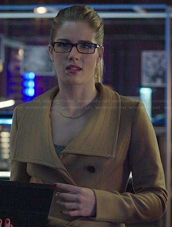 Felicity's camel coat on Arrow