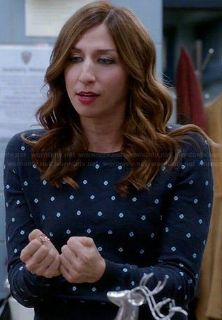Gina's blue polka dot sweater on Brooklyn Nine-Nine