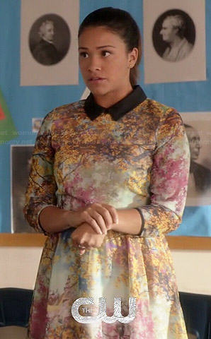 Jane's tree printed collared dress on Jane the Virgin