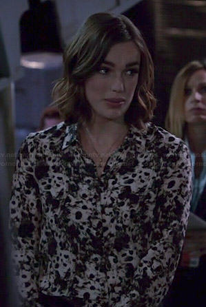 Jemma's leopard print blouse on Agents of SHIELD