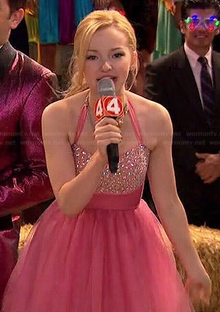Liv's pink New Years dress on Liv and Maddie