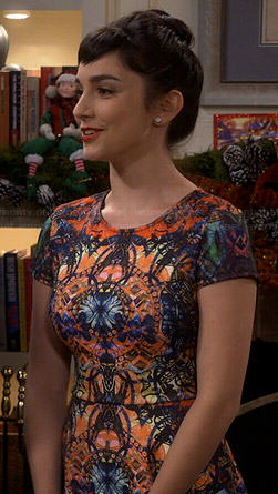 Mandy's kaleidoscope print dress on Last Man Standing