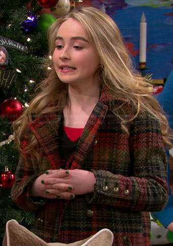 Maya's plaid coat on Girl Meets World
