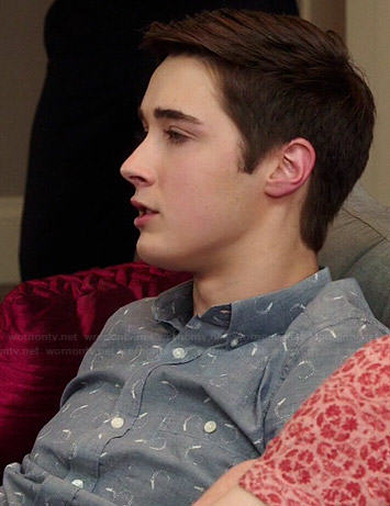 Miles's rocket print shirt on Degrassi