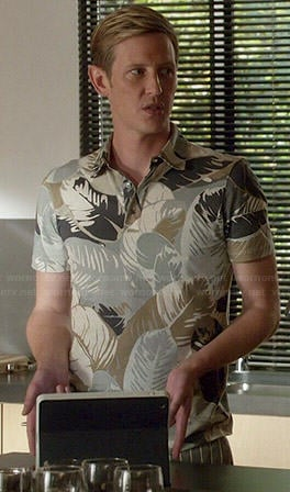 Nolan's leaf printed polo shirt on Revenge