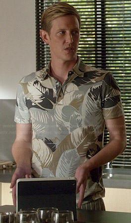 Nolan's leaf printed polo shirt on Revenge