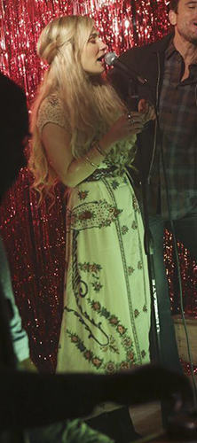Scarlett's white floral embroidered maxi dress on Nashville