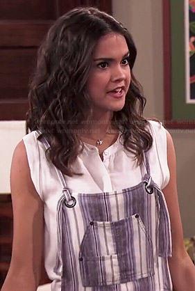 Shaylee's striped overalls on Jessie
