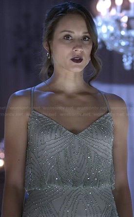 Spencer's mint Christmas dress on Pretty Little Liars