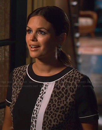 Zoe's leopard and colorblock print dress on Hart of Dixie