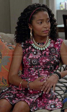 Zoey's pink floral dress on Black-ish