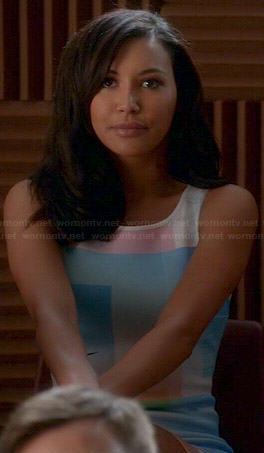 Santana's pastel graphic dress on Glee