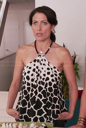Abby's giraffe print halter top on Girlfriends Guide to Divorce