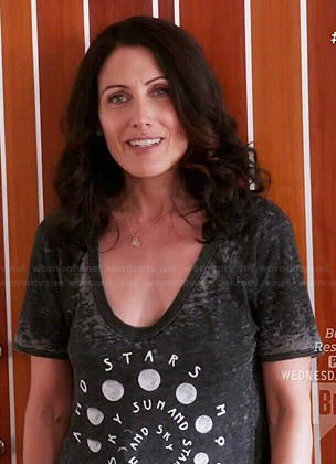 Abby's Sun Moon and Stars tee on Girlfriends Guide to Divorce