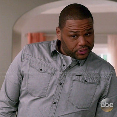 Andre's contrast button down shirt on Black-ish