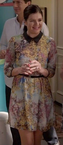 Annie's collared tree print dress on Marry Me