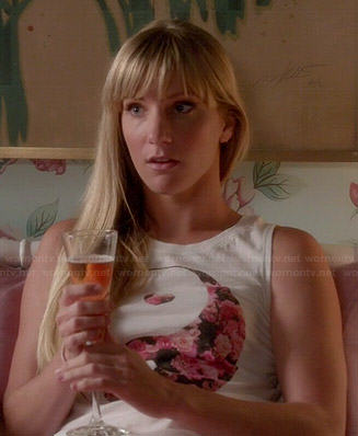 Brittany's floral yin yang top on Glee