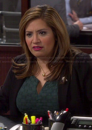 Cristela's green woven dress on Cristela