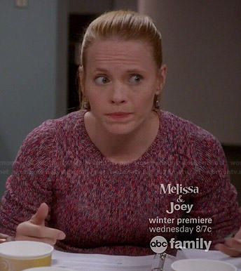Daphne's pink marled sweater on Switched at Birth
