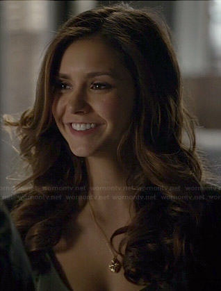 Elena's gold pendant necklace on The Vampire Diaries