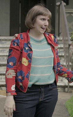 Hannah's red floral poppy print jacket on Girls