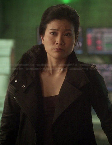 Sleeved jacket on scorpion jadyn wong clothes and wardrobe from tv