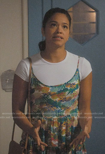Jane's pineapple print dress on Jane the Virgin