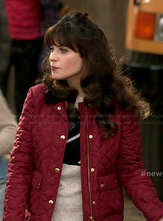 Jess's red puffer jacket on New Girl
